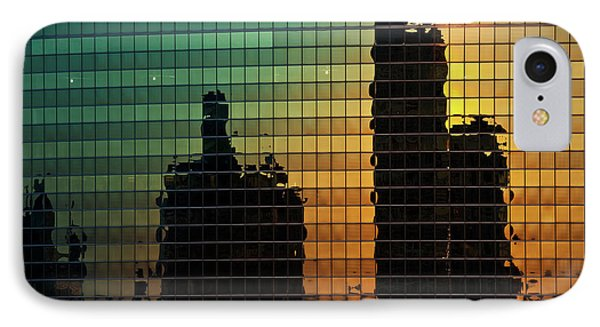 333 Wacker Reflecting Chicago Phone Case by Steve Gadomski