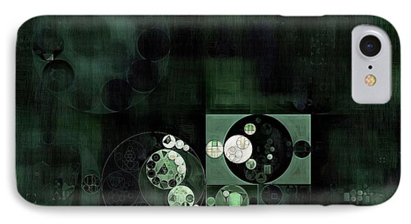 Abstract Painting - Onyx IPhone Case by Vitaliy Gladkiy
