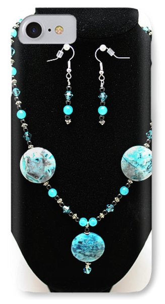 3508 Crazy Lace Agate Necklace And Earrings IPhone Case by Teresa Mucha
