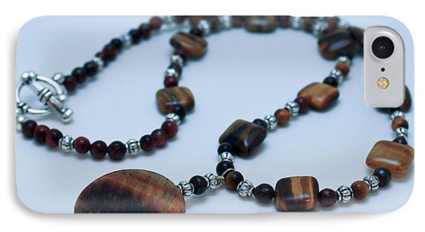 3516 Tiger Eye Necklace  Phone Case by Teresa Mucha