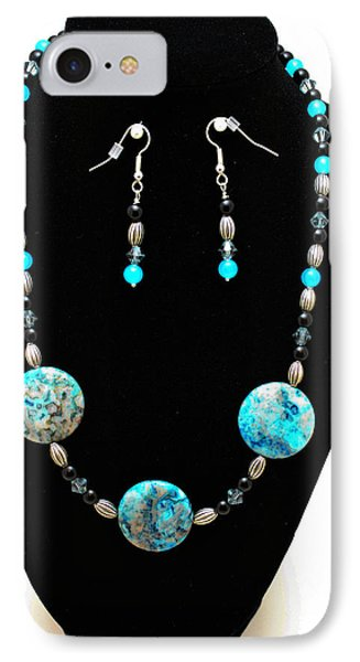 3517 Crazy Lace Agate Set Phone Case by Teresa Mucha