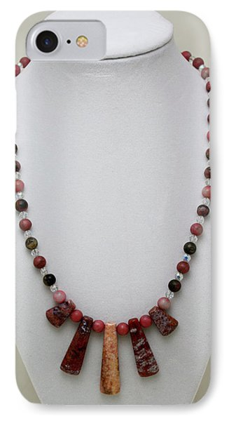 3541 Rhodonite And Jasper Necklace Phone Case by Teresa Mucha