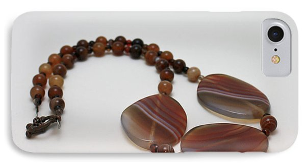 3543 Coffee Vein Agate Necklace Phone Case by Teresa Mucha
