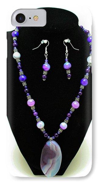 3547 Purple Veined Agate Set Phone Case by Teresa Mucha