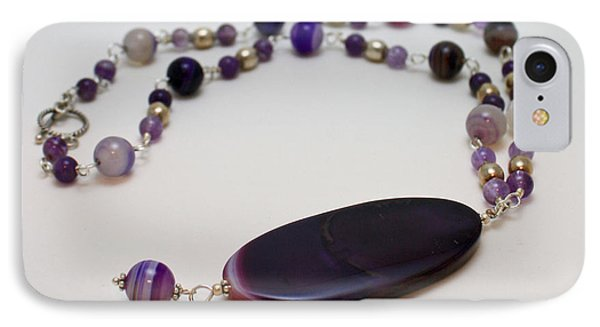 3573 Banded Agate Necklace  Phone Case by Teresa Mucha