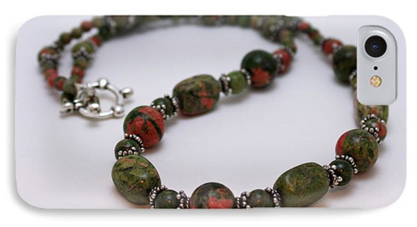 3579 Unakite Necklace  IPhone Case by Teresa Mucha