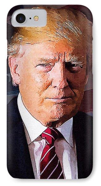Donald Trump Phone Case by Elena Kosvincheva