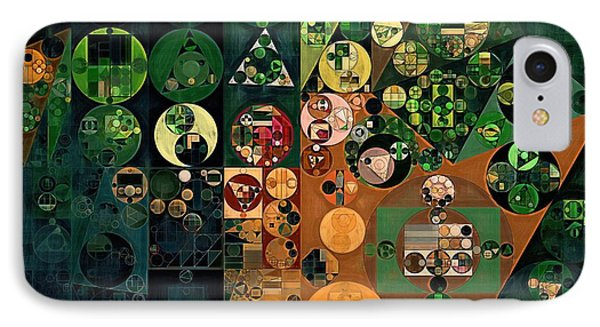 Abstract Painting - Dark Jungle Green IPhone Case by Vitaliy Gladkiy