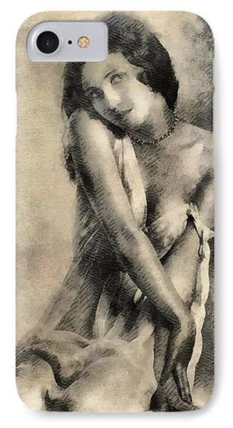 Vintage Pinup By Frank Falcon IPhone Case by Frank Falcon