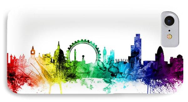 London Skyline iPhone 7 Case - London England Skyline by Michael Tompsett