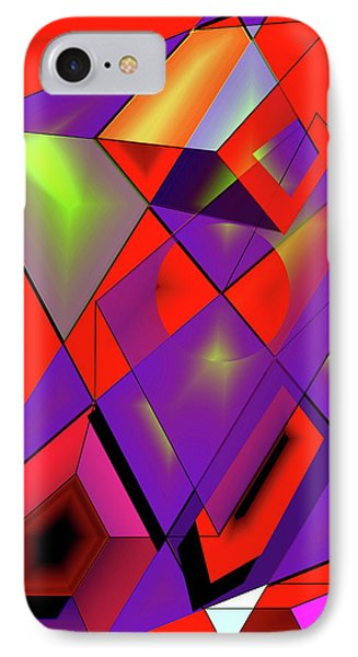 3d-cubes Phone Case by Helmut Rottler