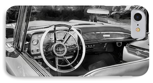 1959 Lincoln Continental Town Car Mk Iv Painted Bw IPhone Case by Rich Franco