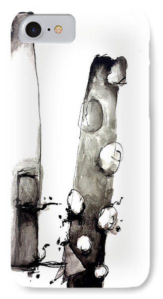 Abstract Figure IPhone Case by Nick Watts