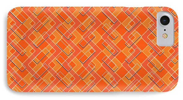Abstract Orange, White And Red Pattern For Home Decoration IPhone Case