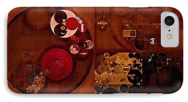 Abstract Painting - Seal Brown IPhone Case by Vitaliy Gladkiy
