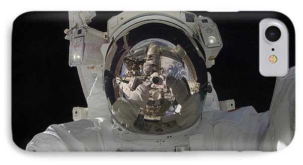 Astronaut Uses A Digital Still Camera Phone Case by Stocktrek Images
