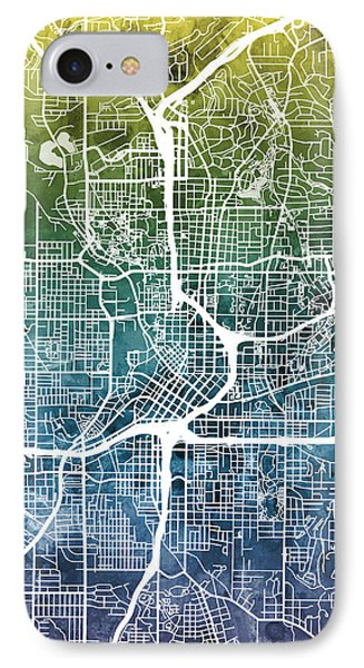 Atlanta Georgia City Map IPhone Case