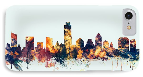 Austin Skyline iPhone 7 Case - Austin Texas Skyline by Michael Tompsett