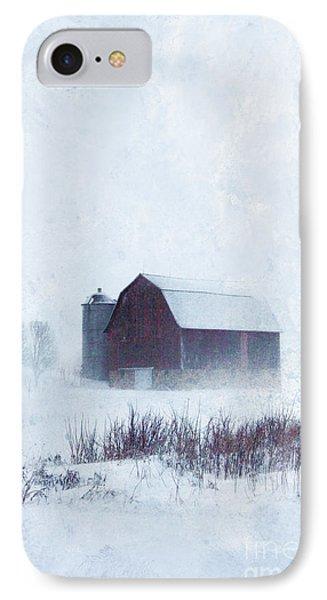 Barn In Winter IPhone Case by Jill Battaglia