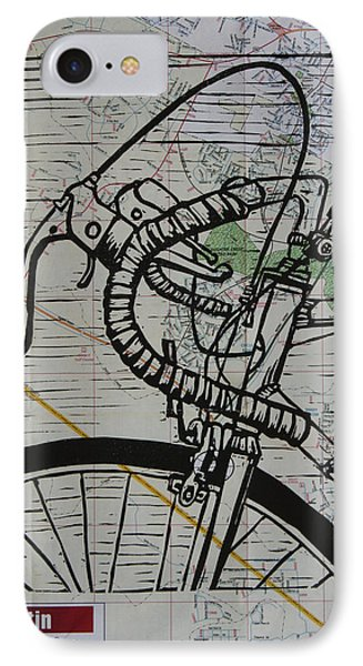 Bike 2 On Map IPhone Case