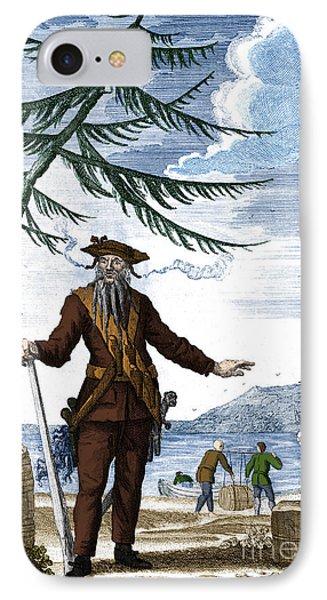 Blackbeard, Edward Teach, English Pirate IPhone Case