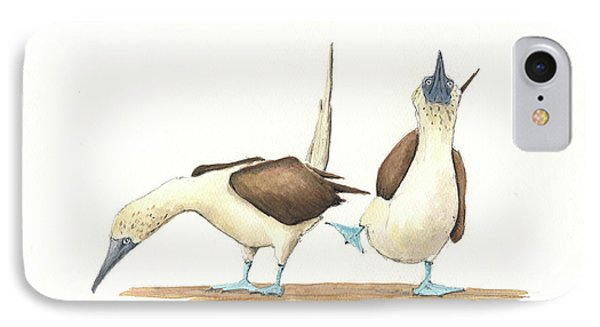 Blue Footed Boobies IPhone Case by Juan Bosco