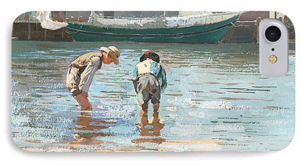 Boys Wading IPhone Case by Winslow Homer