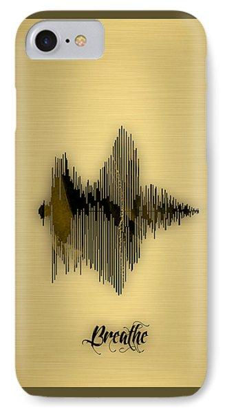 Breathe Spoken Soundwave IPhone Case by Marvin Blaine