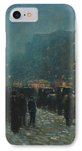 Broadway And 42nd Street IPhone Case by Childe Hassam