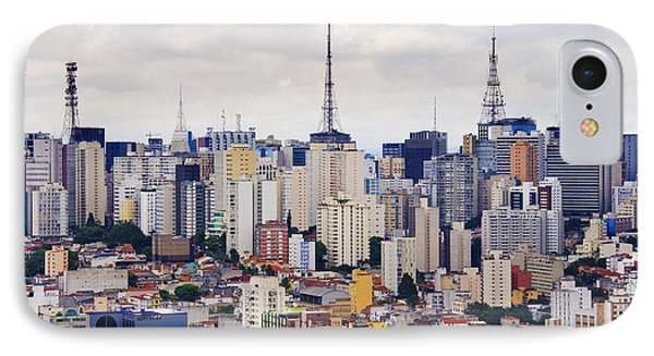 Buildings Of Downtown Sao Paulo Phone Case by Jeremy Woodhouse