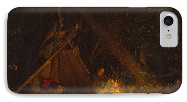 Camp Fire IPhone Case by Winslow Homer