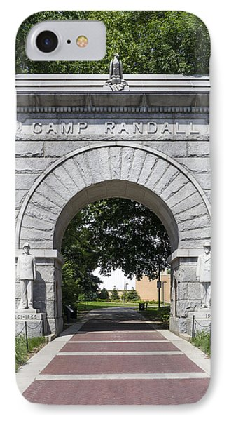Camp Randall Memorial Arch - Madison IPhone Case by Steven Ralser