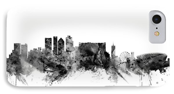 Cape Town South Africa Skyline IPhone Case by Michael Tompsett