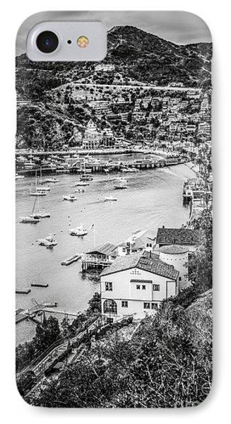 Catalina Island Avalon Bay Black And White Photo IPhone Case by Paul Velgos