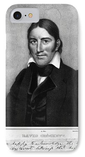 Davy Crockett (1786-1836) IPhone Case by Granger