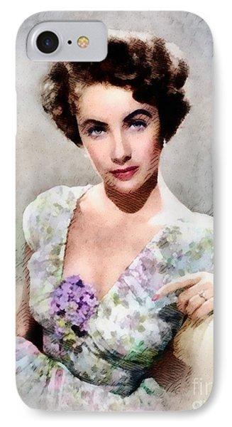 Elizabeth Taylor, Vintage Hollywood Legend IPhone 7 Case by John Springfield