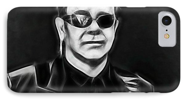 Elton John Collection IPhone Case by Marvin Blaine