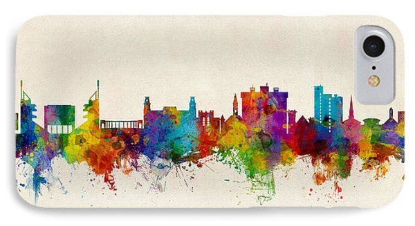 Fayetteville Arkansas Skyline IPhone Case by Michael Tompsett
