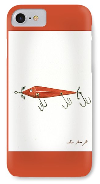 Fishing Lure  IPhone Case by Juan Bosco