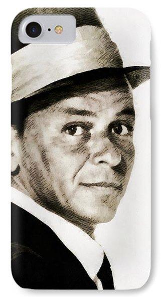 Frank Sinatra, Vintage Hollywood Legend IPhone Case by John Springfield