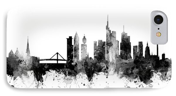 Frankfurt Germany Skyline IPhone Case by Michael Tompsett