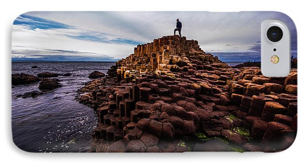 Man Atop Giant's Causeway IPhone Case