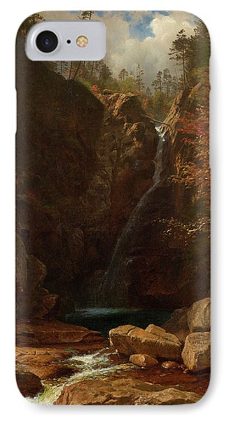 Glen Ellis Falls IPhone Case by Albert Bierstadt