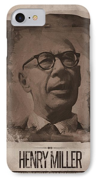 Henry Miller 02 IPhone Case by Afterdarkness
