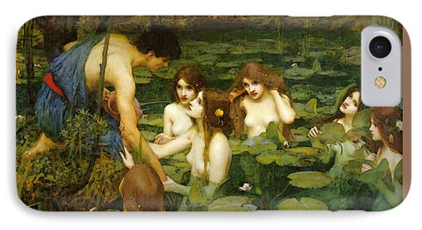 Hylas And The Nymphs IPhone Case by John William Waterhouse