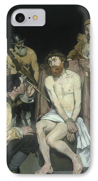 Jesus Mocked By The Soldiers IPhone Case by Edouard Manet