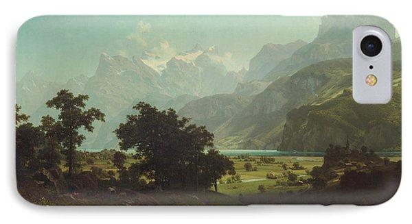 Lake Lucerne IPhone Case by Albert Bierstadt