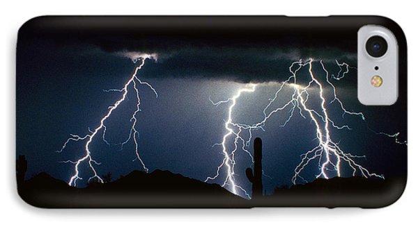 4 Lightning Bolts Fine Art Photography Print IPhone Case