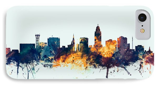 Lincoln Nebraska Skyline IPhone Case by Michael Tompsett