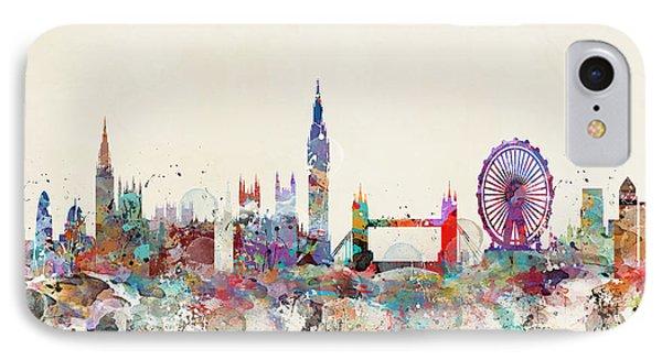 London Eye iPhone 7 Case - London City Skyline by Bleu Bri
